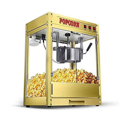 Read About KJRJBD Popcorn Maker Machine New Capacity Hot-Oil Fully Automatic Fat Free Health Gold 50...