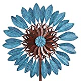 Win Wind Spinner-Outdoor Metal Kinetic Garden Wind Spinners - Decorative Lawn Ornament Wind Mills - Unique Outdoor Lawn and Garden Décor
