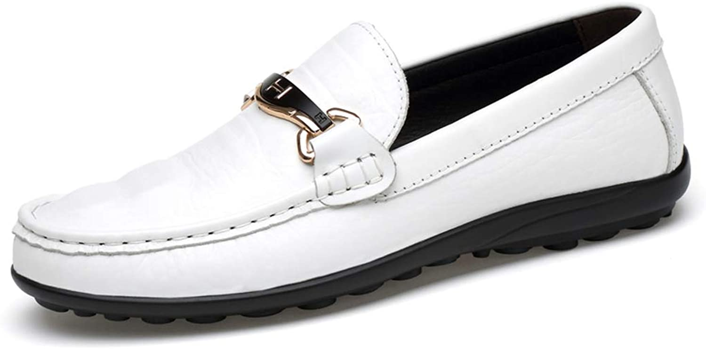 Peas Peas Peas skor herrar läder Drive skor Casual skor Vita skor Män's Cattle läder Andable skor (Färg  vit, Storlek, 47)  utlopp till salu