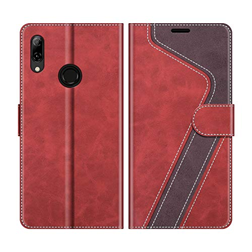 "MOBESV Coque pour Huawei P Smart 2019 6,21"", Housse en Cuir Huawei P Smart 2019, Étui Téléphone Huawei P Smart 2019 Magnétique Etui Housse pour Huawei P Smart 2019, Élégant Rouge"