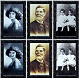 TreatMe Halloween Decor 3D Changing Face Moving Picture Frame - 3pcs 3D Photo Frame Horror Lenticular Morphing Portrait Wall Decoration for Halloween Party Home Bar Spooky Wall Picture