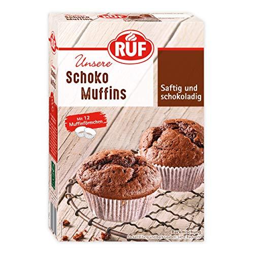 RUF Schoko-Muffins mit Muffin-Förmchen für 12 Mini-Kuchen, 8er Pack (8 x 300 g)