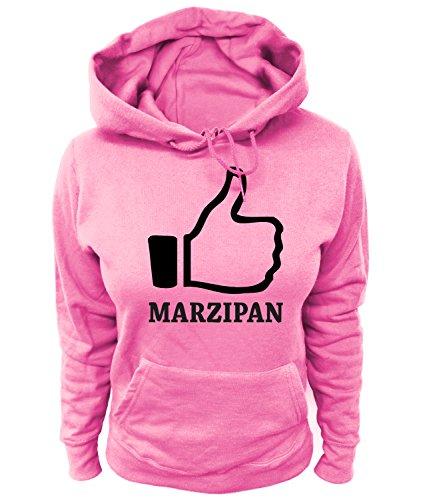 Artdiktat Damen Hoodie - I Like Marzipan, Größe S, rosa