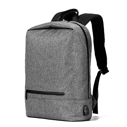 JT Outdoor Reise USB wiederaufladbare Rucksack 17 Zoll Student Rucksack Fashion Leisure Rucksack, Gray