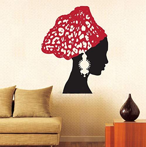 Xin Yao Store Pendientes De Mujer Africana Vintage Bufanda Salón Vinilo Removible Etiqueta De La Pared Decoración del Hogar DIY Arte Baño Sala De Estar 60X78 Cm