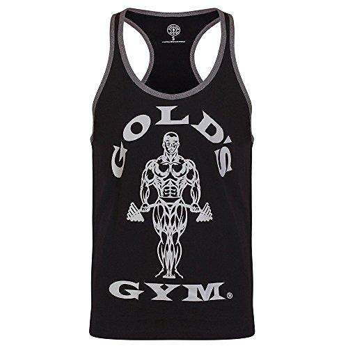 Golds Gym Muscle Joes Contrast Stringer Tank Top Bodybuilding Herren Stringer (black/arctic, M)