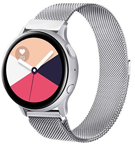 KOJJ Metallo 20mm Cinturino Compatible con Samsung Galaxy Watch Active 2 40mm 44mm/Active 40mm/Samsung Galaxy Watch 42mm/Galaxy Watch 3 41mm, Cinturini per Gear S2 Classic/Gear Sport