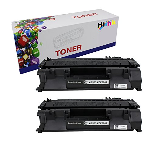 HI Ink Compatible Toner Cartridge Replacement for CF280A (Black, 2-Pack)