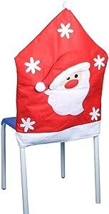 SSITG Navidad stuhlhussen Gorro de Papá Noel Darice–Silla Funda para sillas
