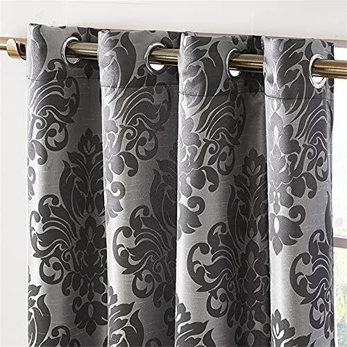 FACWAWF Cortinas Simples, Pliegues Ondulados, Buen Sombreado, Textura Suave, Adecuado para Sala De Estar, Dormitorio, Habitación De Niños. 2xW140xH160cm