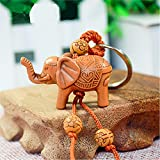 Erawan Elephant 3D Thailand - Handmade RoseWood Fortune Protection, Good Luck Charms, Bring Good Luck in Financial and Love Life, Hand Crafted