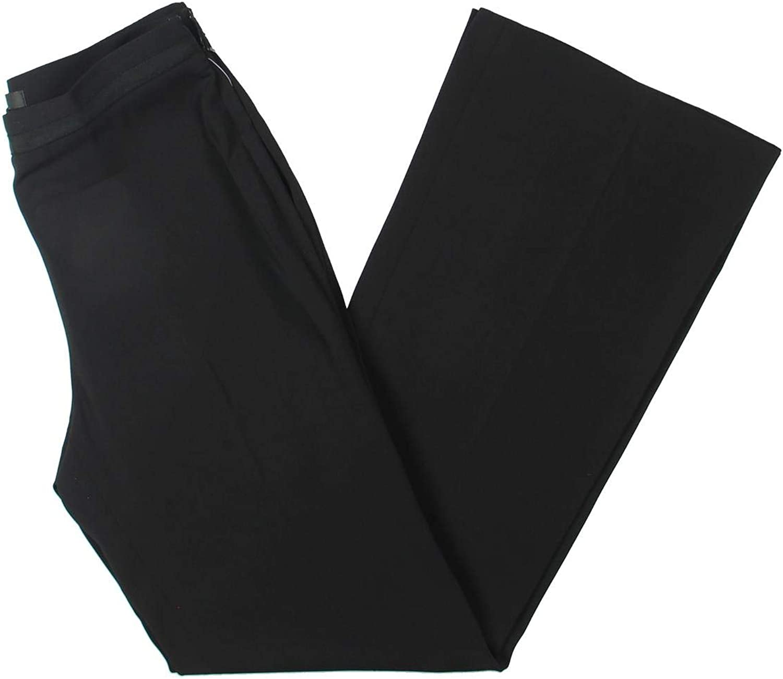Badgley Mischka Womens Flared Flat Front Dress Pants