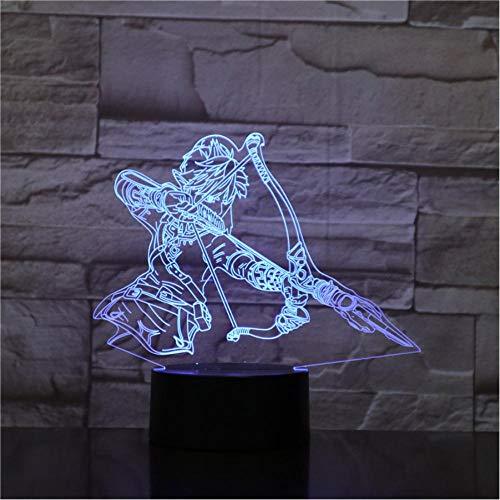 3D illusie Action Figuur Room Kinder-Decoratieve lamp Baby Geschenk Nachtlampje LED