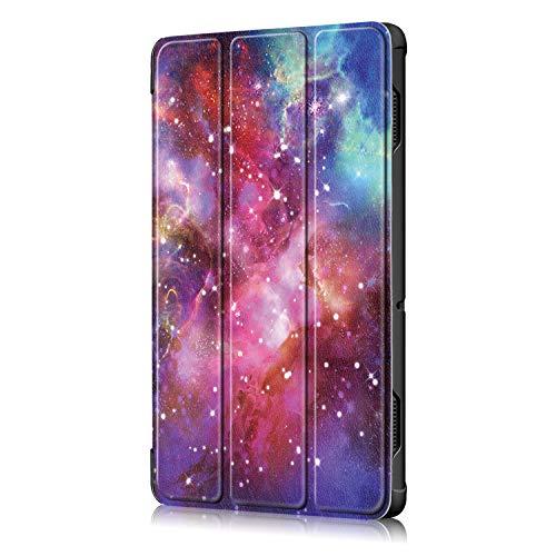 "TTVie Case for Lenovo Tab E10, Ultra Slim Lightweight Smart Shell Stand Cover for Lenovo Tab E10 10.1"" Tablet 2018 Release, Milky Way"