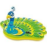 ZFAYFMA Piscina hinchable de remo para niños, piscina gigante, piscina hinchable de pavo real, cama de pavo real, para adultos, amantes de la playa, tamaño L