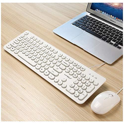 Ratón inalámbrico y teclado combo teclado de ordenador ratón inalámbrico, teclado y ratón incluidos, portátil teclado de escritorio del ordenador periférico USB Interfaz del teclado, batería de larga
