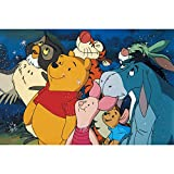 Full Drill Diamond Painting Cartoon Winnie the Pooh by Number Kits, 5D DIY Diamond Embroidery Crystal Rhinestone Cross Stitch Mosaic Paintings Arts Craft for Home Wall Decor 12X16 inch (A)