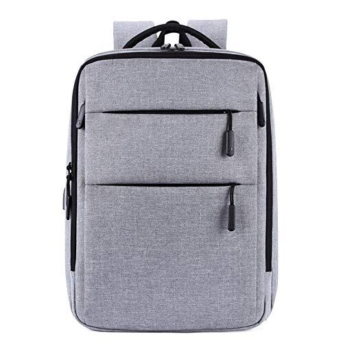 Cfilet Morral del Ordenador Portátil, Bolso De Hombro con La Carga del USB, Mochila Portátil Multifuncional (Color : Grey)