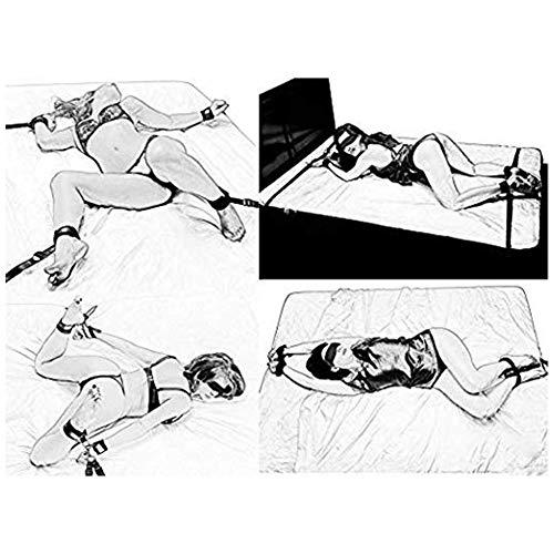 Bondage sessuale per coppie con polsini alla caviglia, cinture per camera da letto per sesso con benda sugli occhi
