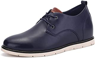 2019 Mens New Lace-up Flats Men's Fashion Oxford Shoes, Casual Classic British Style Height Increasing Insole Formal Shoes