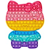 MDJEWV Pop Gigante it Fidget Toy, Pūsh Pǒp Bubble sensoriales Fidget Toys Antistress Among us Juego Juguetes, Popit Grande Juguete antiestres Juego para niños Adultos Autismo(Gato 28*32cm)