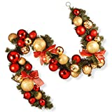 National Tree 6 Foot Gold and Red Mixed Ornament Garland (RAC-16002)