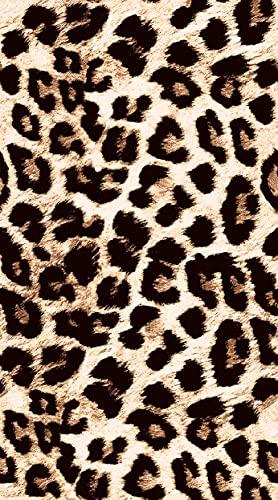 Toalla de playa XXL con estampado de leopardo, 100 x 180 cm, 100 % microfibra, toalla de playa, toalla de verano