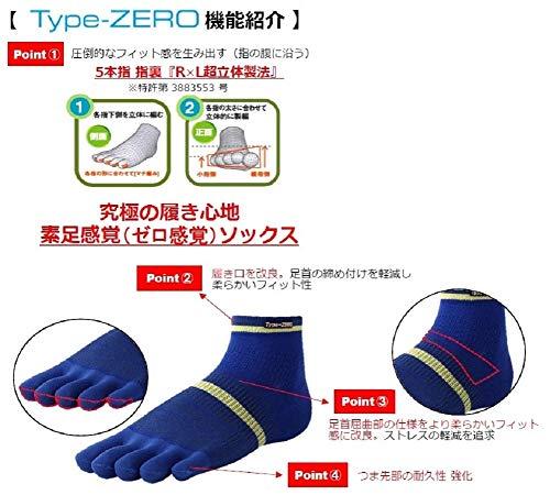 [アールエルソックス]靴下5本指ランニングソックスType-ZERO超立体製法RA-10001ブラック日本M(24~26cm)(日本サイズM相当)
