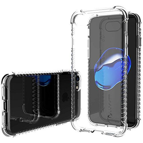 Luvvitt Clear Grip Case for Apple for iPhone SE 2020 / iPhone 7 / iPhone 8 with Shockproof Drop Protection Slim Soft Hybrid TPU Gel Bumper Scratch Resistant Silicone Cover
