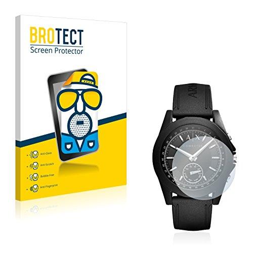 BROTECT 2X Entspiegelungs-Schutzfolie kompatibel mit Emporio Armani Connected Exchange Smartwatch AXT1001 Bildschirmschutz-Folie Matt, Anti-Fingerprint