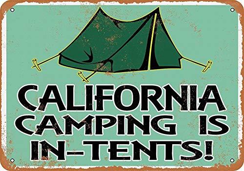 mefoll cartel decorativo para pared con texto en inglés 'California Camping is in Tiends' (30,5 x 40,6 cm)
