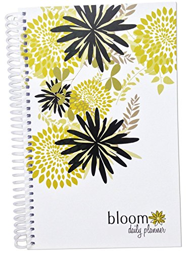 "bloom daily planners 2017 Calendar Year Hard Cover Vision Planner - Monthly and Weekly Column Calendar View Planner - (January 2017 - December 2017) Peacock Feathers - 7.5"" x 9"""