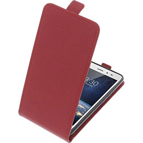 foto-kontor Tasche für TP-Link Neffos X1 Lite Smartphone Flipstyle Schutz Hülle rot