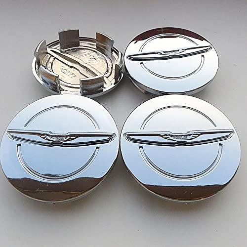 QUXING 4 Piezas Tapas Centro Tapacubos, para Chrysler 300C 64mm Rueda Emblema...