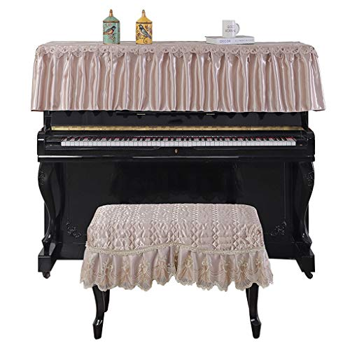 Read About Piano cover European Style Cloth Top Dust Cover Piano Towel (Color : Champagne Color, Siz...