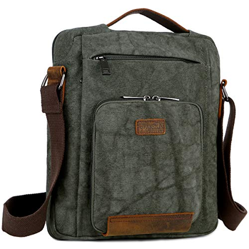 Baosha MS-03 - Borsa a tracolla in tela, Verde (Green), Medium