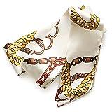 [ジュエルボックス] JewelVOX スカーフ ネックレス 76種類デザイン サテン生地 スカーフ 【チェーン柄1】 D