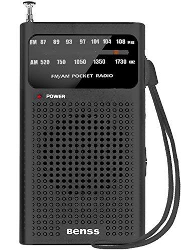 Radio Portátil Pequeña Mini Radio de Bolsillo FM Am Radio con Grandes Altavoces, Excelente Recepción