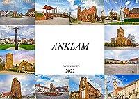 Anklam Impressionen (Wandkalender 2022 DIN A2 quer): Die Stadt Anklam, festgehalten auf zwoelf wunderschoenen Bildern (Monatskalender, 14 Seiten )