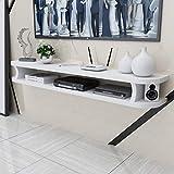 GAXQFEI Pantalla Racks Estante Flotante Mueble de Pared Mueble de Tv de Pared Estante Tv Mueble de Tv Estante de Alenamiento para Componentes de Tv, Consola de Medios de Madera, Bastidores de Alenami