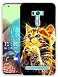 Sunrive Kompatibel mit Asus Zenfone Selfie ZD551KL Hülle Silikon, Transparent Handyhülle Schutzhülle Etui Hülle (X Katze)+Gratis Universal Eingabestift MEHRWEG