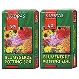Kudras Sustrato universal para plantas (80 L, 2 x 40 L, 2 unidades)