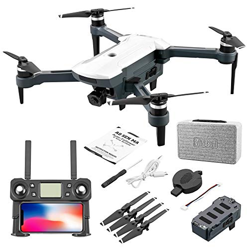 HSKB CG028 GPS Drohne mit 4K HD Dual Kamera 110 ° Weitwinkel GPS 5G WiFi FPV Brushless Motor RC Quadrocopter Faltbare Drohnen Professionelle Follow Me mit 11,1 V 1500 mAh Batterie Tragetasche