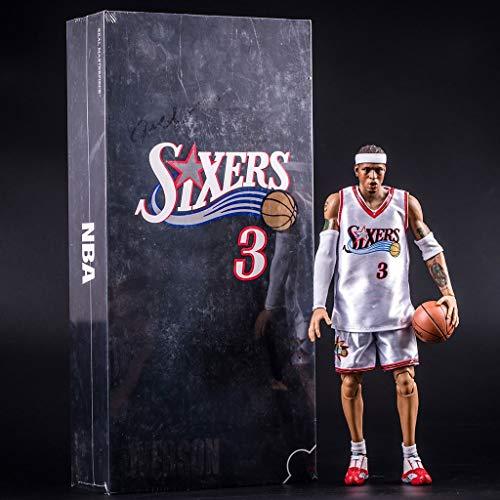 LBBD NBA Allen Iverson Ezail Action-Figur Philadelphia 76ers Jersey Basketball-Spieler-Model Kit Exquisite Verpackung