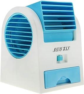 USB Mini Ventilador Sin Cuchillas,Climatizador Evaporativo Ventilador Para Escritorio Coche,Batería Alimentada Ventilador De Refrigeración Por Aire,Aire Acondicionado Portátil C 11x11x13cm(4x4x5inch)