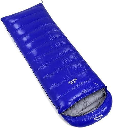 ZDHTNBL Leger Sac de Couchage Coton de Survie froidimpermeable Sac de couchageSac de Couchage à Capuche Bleu