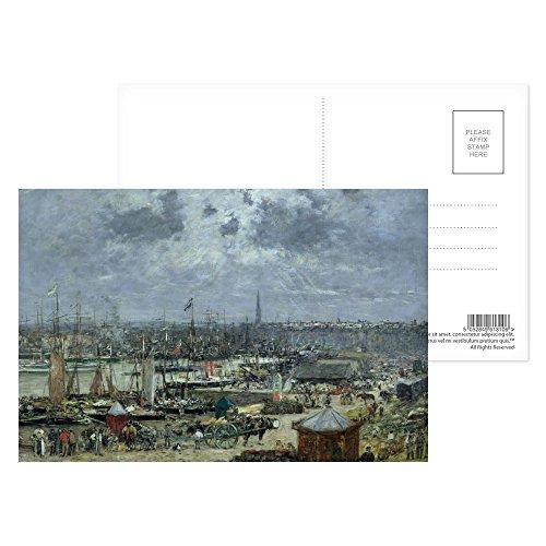 Unbekannt Art247 Postkarte The Port of Bordeaux, 1874 (Öl auf Leinwand, 8 Stück, 15,2 x 10,2 cm)