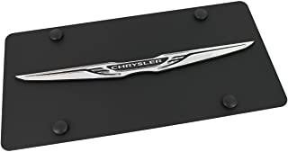 Chrysler Wing Logo Carbon Stainless Steel License Plate