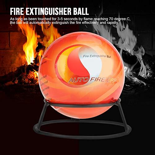Bola De Extintor De Incendios 0.5/1.3Kg. Bola De Fuego. Detención Automática Con 1 X Soporte De Montaje En Pared / 2 X Tornillo / 2 X Enchufe De Pared.(0.5kg)