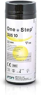 100 Tiras reactivas de analisis de orina de 10 Parámetros: Leucocitos, nitritos, urobilinógenos, proteínas, pH, sangre, densidad, cetona, bilirrubina y glucosa - Uroanalisis